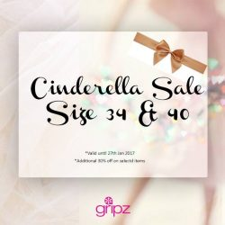 [Gripz] Finding the right shoes for the festive season? Shop your Cinderella size at http://www.gripzshoes.com/en/56-cinderella-