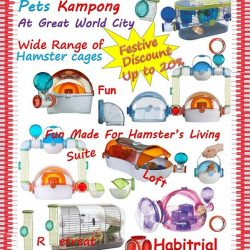 [Pets Kampong] HURRY!!!Avail our special promotion of hamster cages. Available at Great World City or visit www.petskampong.com.sg. For