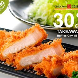 [Saboten] Saboten Express - OPENING SPECIAL! 30% OFF for ALL TAKEAWAYS for Tonkatsu & Katsudon!Valid from 9 – 20 Jan 2017. Find us