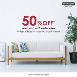 [Scanteak] Unwind after a tiring day at work with this cosy piece of Scandinavian design sofa. What's more, enjoy an
