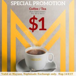 [Mayson's Bakery] Looking for a $1 coffee/tea? You're going to need this. Show this coupon and get a cup of