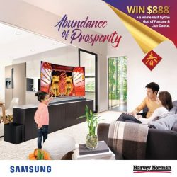 [Samsung Singapore] Usher in the brand new year with abundance of prosperity & joy! Stand a chance to win $888* & a home visit