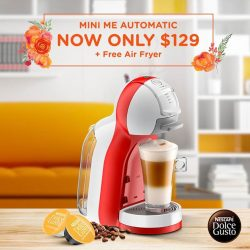 [Nestle Dolce Gusto] Spring into action and redeem a FREE Mayer Air Fryer (^MRSP $239) with purchase of any MINI ME Automatic (NOW $