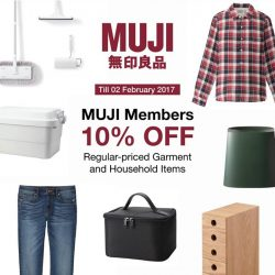 [MUJI Singapore] MUJI Members' Week is here! Till 2 February, enjoy savings with 10% OFF regular priced garment and household items! Check