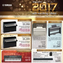[YAMAHA MUSIC SQUARE] New year, New deals! Welcome 2017 with these exciting offers!Visit our retail stores now or shop online at: http://