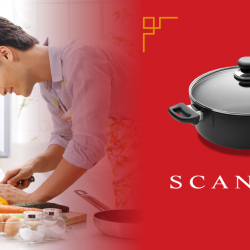 [Lazada Singapore] Free knife set, cutting board & pizza cutter with every 3 Scanpan cookware purchases!