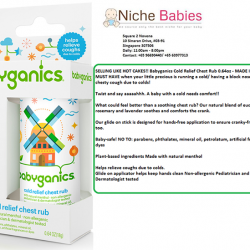 [Nichebabies] SELLING LIKE HOT CAKES!! Babyganics Cold Relief Chest Rub 0.64oz - MADE IN USA! A MUST HAVE when your little