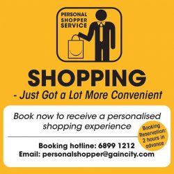[Gain City] We are proud to announce the launch of the Gain City Personal Shopper Service, now available at the Gain City