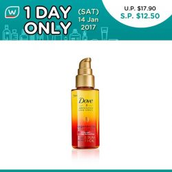 [Watsons Singapore] A step closer to good hair days! Here's the 1st of our exciting 1 Day Deal: SAVE 30% on