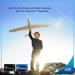 [Citibank ATM] Use your points or miles to book your next holiday! Get 8% off at over 160,000 hotels and 300