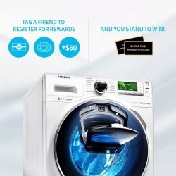 [Samsung Service Centre] Know someone who owns a Samsung washing machine? Tag them in the comments section below to remind them to register