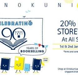 Kinokuniya: 20% OFF Storewide for All