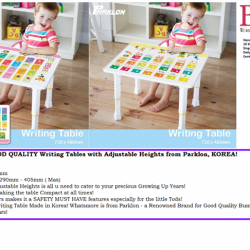 [Nichebabies] A Truly PERSONALIZED Table that your precious CAN CALL IT THEIR OWN!:)A PREMIUM, GOOD QUALITY Adjustable Heights Table - Made