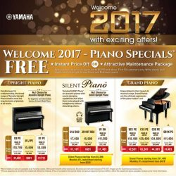 [YAMAHA MUSIC SQUARE] New year, New deals! Welcome 2017 with these exciting offers!Visit our retail stores now!More information can be found