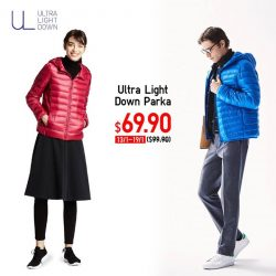 [Uniqlo Singapore] Planning a wintry holiday this Chinese New Year break? Keep warm with an Ultra Light Down Parka that's water-