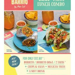 [Mex Out] Holy Guacamole!! Lunch Deals!! Barrio by Mexout 313@Somerset is unveiling its lunch deals today... Enjoy a meal, a side