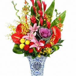 [Xpressflower.com] Thinking of what to beautify your house with for Chinese New Year? We offer flower arrangements for the occasion for