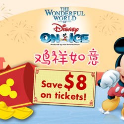 Singapore Sports Hub: Save $8 on Tickets to The Wonderful World of Disney On Ice!