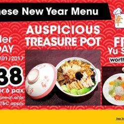 [Gain City] Come celebrate Chinese New Year with us! This auspicious treasure pot is available at Lucky Cuisine, level 3 of the