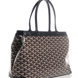 c8f63c21b4b9  MADAM MILAN  Goyard Chevron Bellechasse PM Tote Black Condition 95%new.