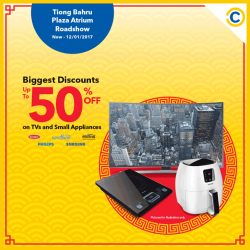 [Courts] Enjoy up to 50% OFF on TVs and Kitchen Appliances from top brands  at Tiong Bahru Plaza Atrium Roadshow this