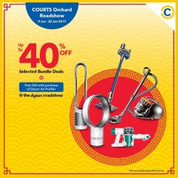 [Courts] Looking to get your spring cleaning done in a jiffy? Get the latest Dyson Home Appliances at COURTS Orchard Roadshow