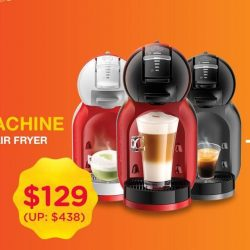 [Lazada Singapore] Wake up to great coffee aroma this new year with Nescafe Dolce Gusto Mini Me Coffee Machine... PLUS a FREE