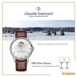 [Tangs] Get a piece of Swiss elegance and sophistication with Claude Bernard! Visit the Gift of Timekeeping sale from 30 Jan