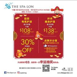 [The Spa-Lon] Join us at our Bedok branch tomorrow (14/1/17) from 10:30am to 2:30pm for irresistible CNY deals,