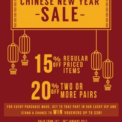 [One KM] Have you got your footwear ready for Chinese New Year? Head down to Solemates #01-29 for in-store sale