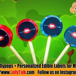 [Lolly Talk] LollyTalk's customized lollypops for Make Up For Ever personalised with an edible labels pasted on the lollypops, used as