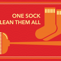 [Courts] Brandish your spring cleaning wand and eliminate dust from your home by wrapping a sock on a broomstick to clean