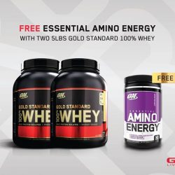 [GNC Live Well Singapore] Receive a FREE ON Essential Amino Energy 30's when you purchase 2 tubs of 5lb ON Gold Standard 100%