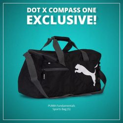 [DOT Singapore] DOT x Compass One Exclusive! - Get your hands on the PUMA Fundamentals Sports Bag (S) now retailing at $19.50* (