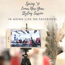 [Love, Bonito] Watch us live on Facebook as we unveil the remaining of our upcoming Spring '17 Lunar New Year collection. The