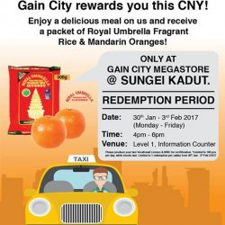 [Gain City] CALLING ALL CABBIES! Gain City invites you over to the Gain City Megastore @ Sungei Kadut between 30th Jan to 3rd