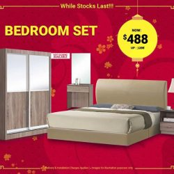 [FULL HOUSE HOME FURNISHINGS] BEDROOM SET PROMO!!! While Stock Last Only!!BEDROOM SET @ $488 ONLY! INCLUDES - 1 x 2 Door Sliding Wardrobe - 1 x
