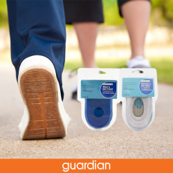 [Guardian] Guardian Gel Heel Cushions both Men and Women's fits most shoes and is ideal for sensitive heels with gel