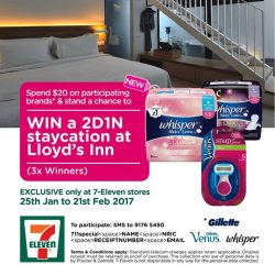 [7-Eleven Singapore] Want to win a 2D1N staycation? Check out the visual to find out more!  All you need to do is