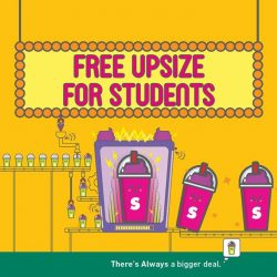 [7-Eleven Singapore] Because we know you love good deals! Flash your student card to enjoy free upsize from Large Slurpee to Giant