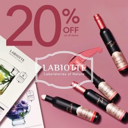 [Tony Moly Singapore] TONYMOLY x LABIOTTEFrom today till Chinese New Year Eve, get 20% off on all Labiotte Wine Series products when