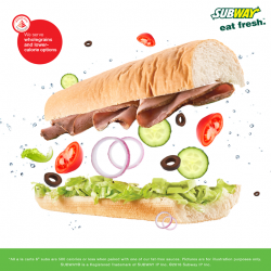 [Subway Singapore] Have it however you like and it's still under 500cals if you exclude cheese and pick fat free sauces!