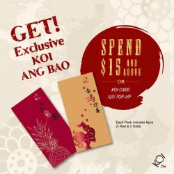 [KOI Café Singapore] Get our Exclusive KOI 2017 Ang Bao for better prosperity and good luck this Lunar New Year! With a minimum $