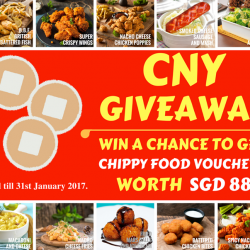 [CHIPPY - British Take Away] Join our **CNY GIVEAWAY** and have a chance to win CHIPPY FOOD VOUCHERS worth SGD 88.00 with only THESE