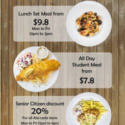 [THE BOMB BISTRO] There is a deal for everyone !!!Lunch set meal from $9.8 All day student set meal from $7.8