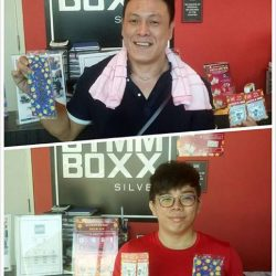[GYMM BOXX Silver] Congrats Mr Ong and Tommy for winning the treats & gifts category! The more you visit, the more scratch cards you