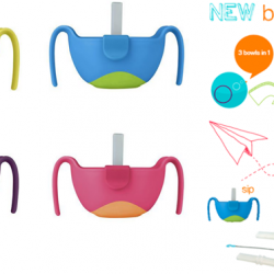 [Nichebabies] NEW ARRIVALS!! HOT SELLING!! Introducing B.Box 3-IN-1 Bowl and straw! ( Available in Lemon Sherbert, Ocean Breeze, Strawberry