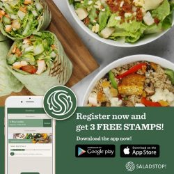 [Salad Stop] We are dedicated to offer you a wide array of rewards and incentives. #eatwideawakeapp