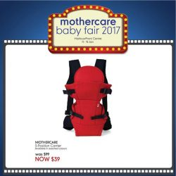 [Mothercare] Grab these Starbuys at our Baby Fair from 11 - 15 Jan @ HarbourFront Centre Lvl 3! Selected offers are available online