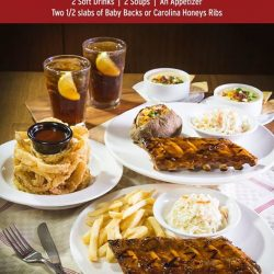 [Tony Roma's] Tony Roma's celebrates our 45th Anniversary by offering an Anniversary Set Meal for 2 for only $45++. Enjoy close